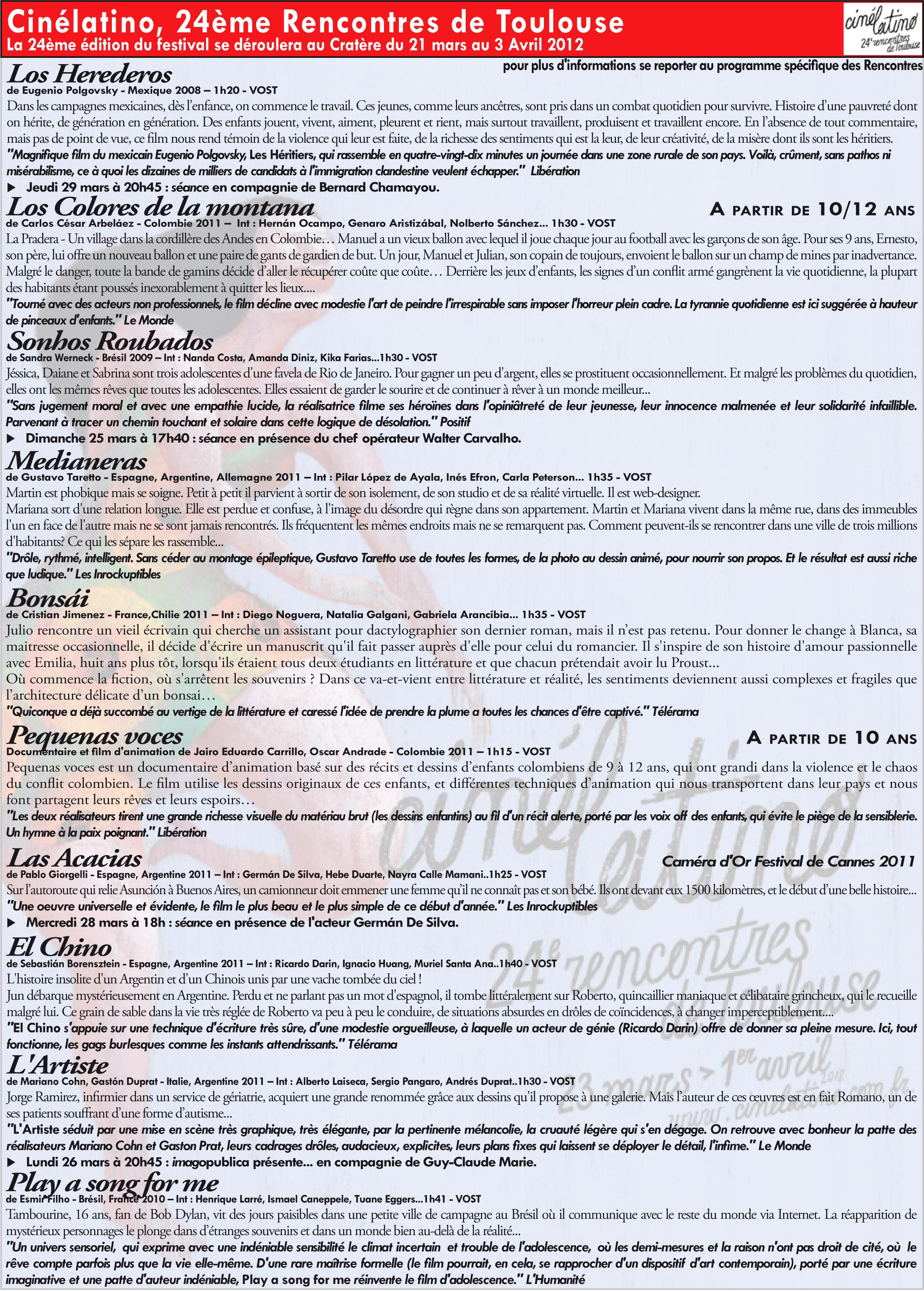 Legal information of RENCONTRES CINEMA AMERIQUE LATINE